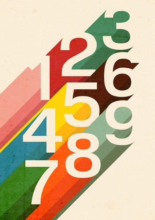 Retro Numbers by Budi Satria Kwan — On The Wall | Apartment Therapy