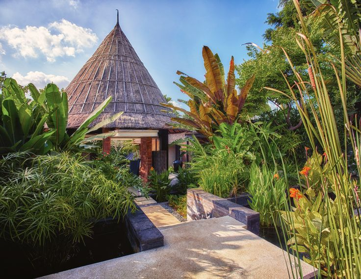 The entrance to secluded luxury in Bali's hippest neighbourhood.