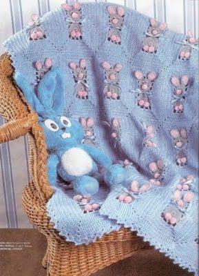 Delicadezas en crochet Gabriela: Cómo tejer una manta liebres alegres