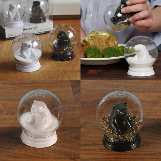 Snow Globe Salt & Pepper Shakers