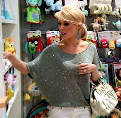 Gretchen Rossi's Silver Sweater - DETAILS on BigBlondeHair.com http://www.bigblondehair.com/real-housewives/rhoc/gretchen-rossis-silver-sweater/