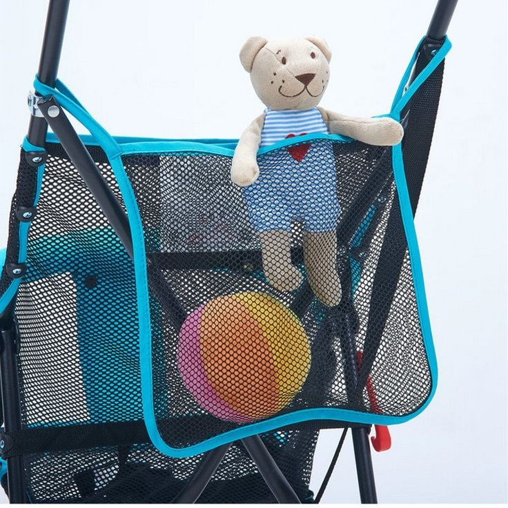 PVC Baby Stroller Storage Bag Pram Accessories Mesh Design Traveling  Shopping Convenient Simple Mummy Favor Durable