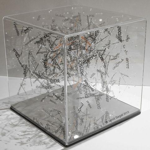 """""""Microcosm"""" di Segal Iamit, 30x30x30cm (2013), categoria scultura. 26 marzo - 6 aprile 2014, Spazio Oberdan, Milano. http://www.provincia.milano.it/cultura/manifestazioni/oberdan/dam_prize_2014/index.html"""