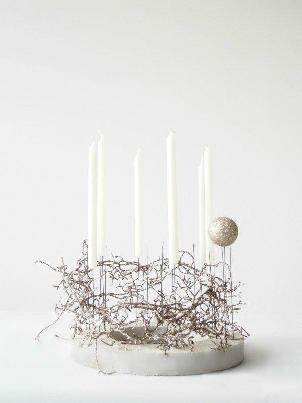 DIY Concrete Advent Decoration
