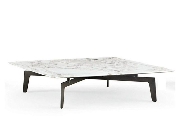 Square marble coffee table TRIBECA Tribeca Collection by Poliform | design Jean-Marie Massaud