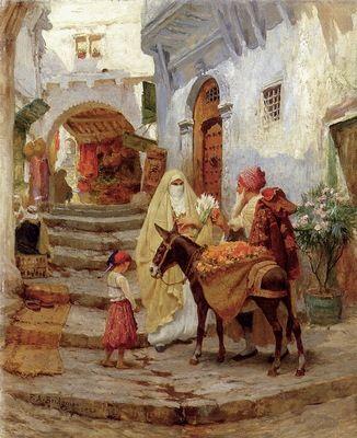 Frederick Arthur Bridgman The Orange Seller