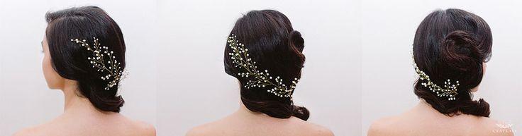 Coafura Mireasa Retro Glam cu Accesorii de Par ❤️ Retro Glam Hairstyle with Accesories