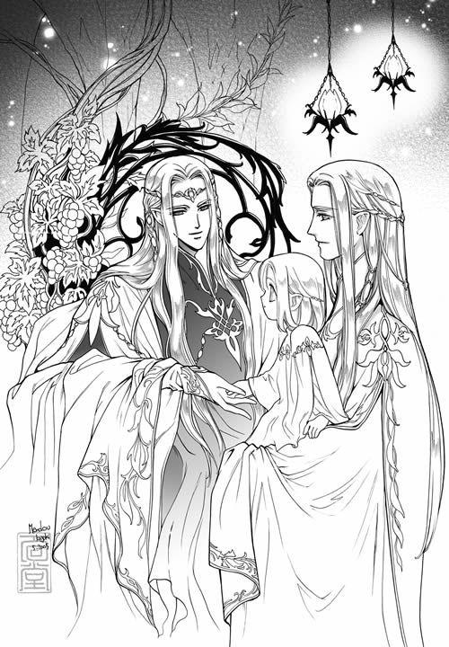 Oropher Thranduil legolas 1 by ~Kazuki-MENDOU on deviantART