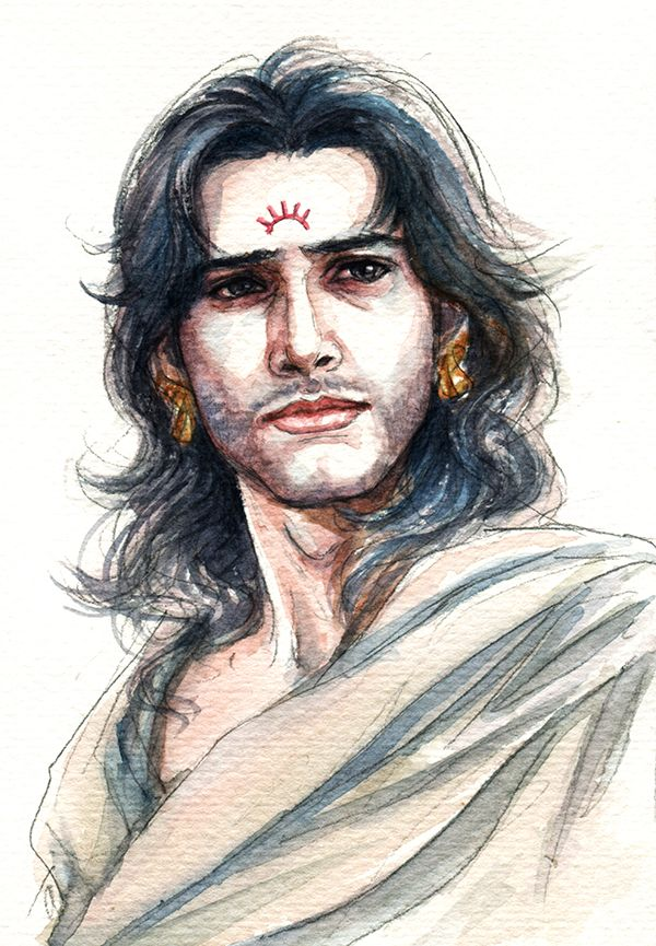Fanart of Karna,Mahabharat,by Snowcandy.CC:BY-NC-ND