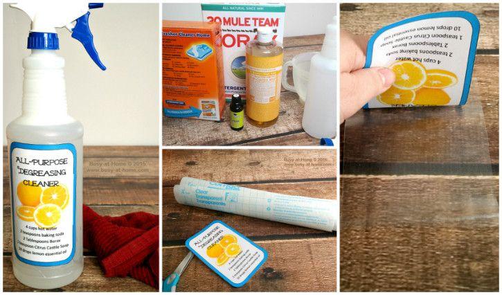 DIY Degreasing All-Purpose Cleaner Recipe