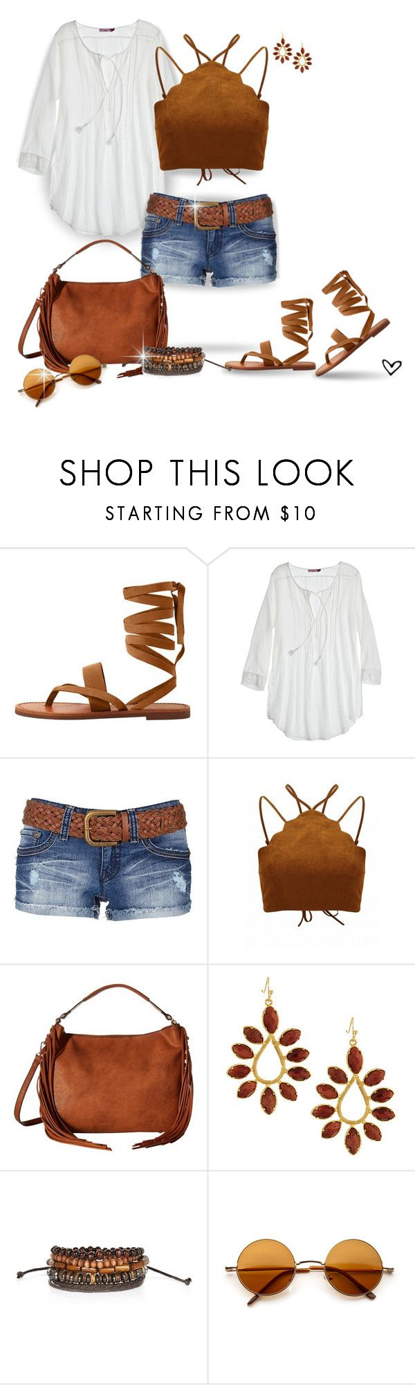 """~Mango.com~ Leather Gladiator Sandals ~"" by justwanderingon ❤ liked on Polyvore featuring MANGO, Calypso St. Barth, YMI, Gabriella Rocha, Kendra Scott, River Island, boho, gladiatorsandals, denimshorts and leathersandals"