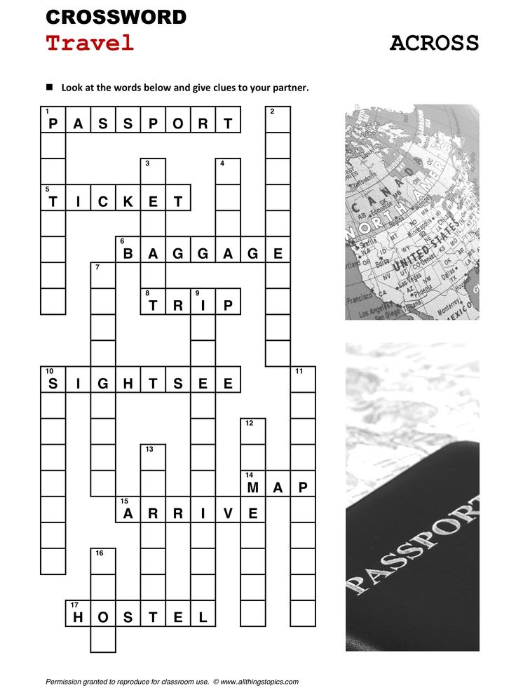 Crossword Puzzle To Learn English Crosswords ...