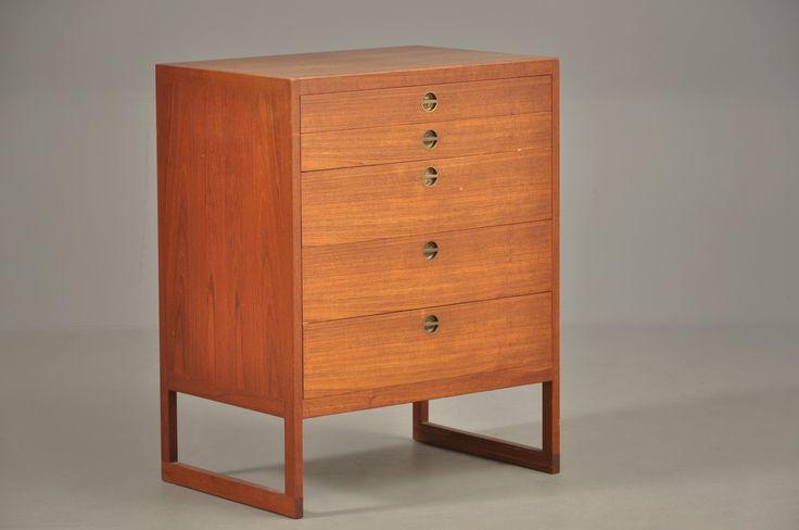 Teak chest of drawers, model BM 50, 1950.