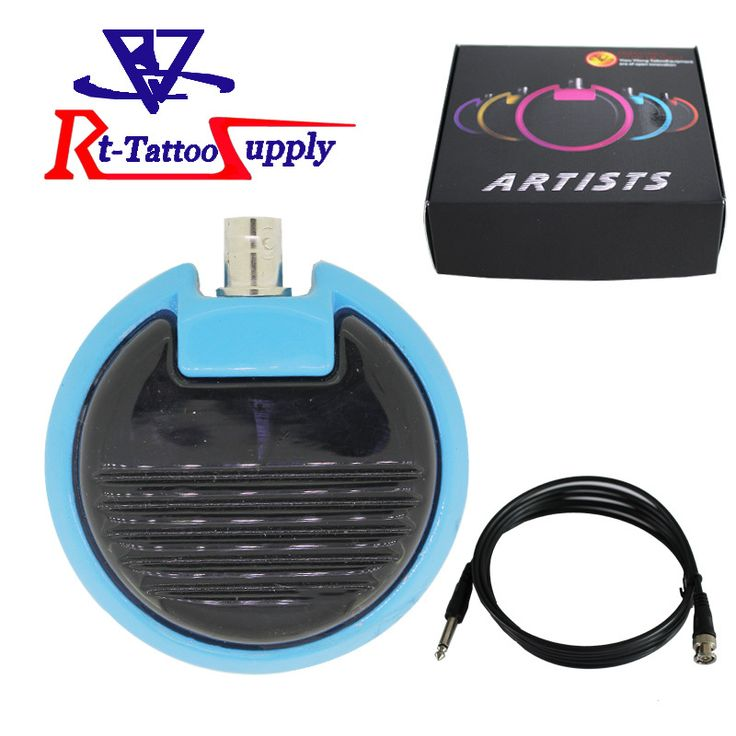 Circular Foot Switch With A kinds Of Color Pedal Tattoo Machine Gun Power Supply Tattoo FootSwitch
