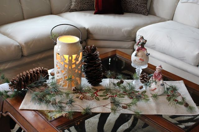 Designs By Pinky A Winter Coffee Table Vignette