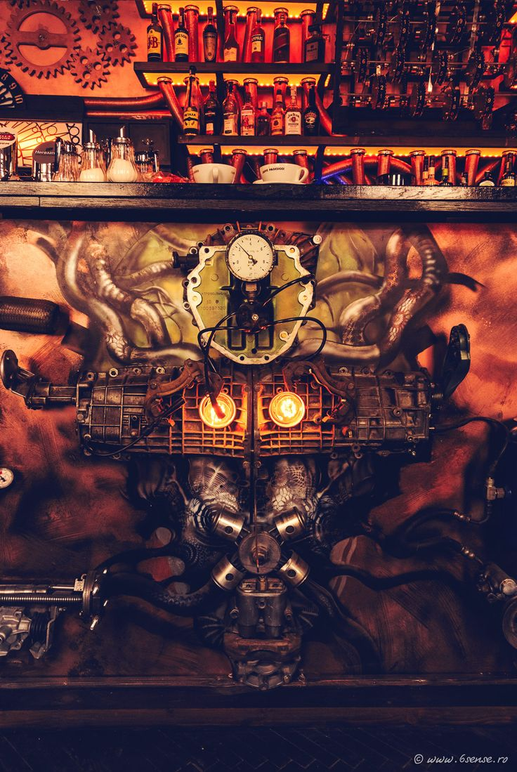 Welcome to the surreal steampunk apartment where jules verne meets tim - Steampunk Tendencies The World First Kinetic Steampunk Bar Video
