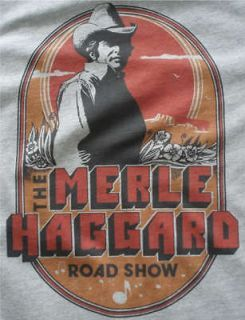 Merle Haggard t shirt tour vintage style short/long Tall mens & womens