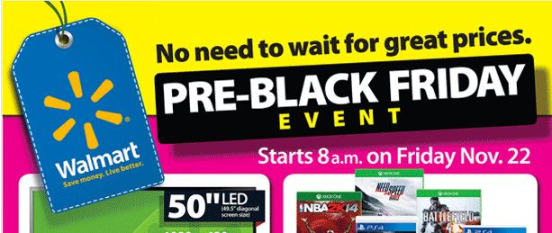 New Walmart Black Friday Ad for Pre-Black Friday Event Released