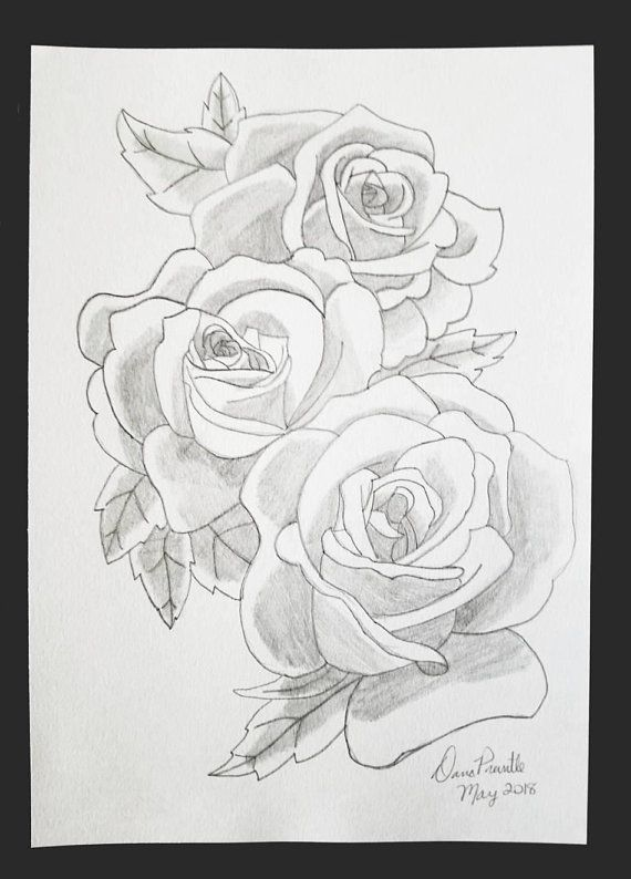 Rose Bunch Drawing Three Rose Heads Drawing Roses Drawing Rose Wall Art Rose Sketch Rose Art Flower Wall Art Flower Roses Drawing Rose Pencil Sketch Flower Art