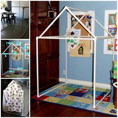 How cool! I envy any child who can play in a fort as fantastic as this. You can make one for your kids using only PVC pipes and blankets. I bet you and your kids will have lots of fun with it. I was able to dig up the source on this one but just …