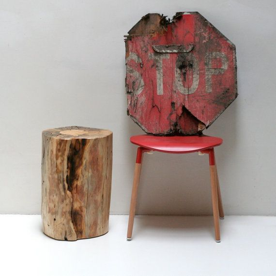 Attractive Fascinating Natural Tree Stump Wood Tablestool Introduction