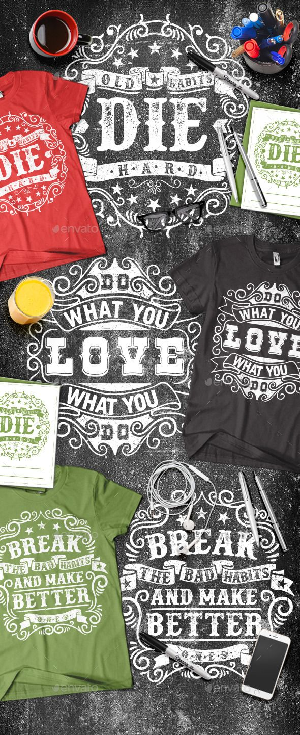 3 Motivational Typography T-shirt Template Vector EPS, AI. Download here: http://graphicriver.net/item/3-motivational-typography-tshirt/13800865?ref=ksioks