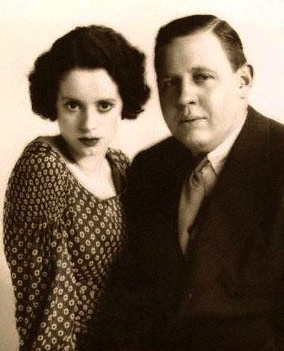 Elsa Lanchester & Charles Laughton. The Bride of Frankenstein and Quasimodo of The Hunchback of Notre Dame. Real life husband and wife.