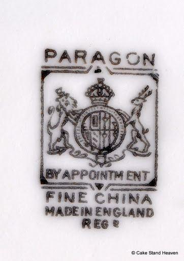 Paragon 1932 Backstamp China Paragon Pinterest