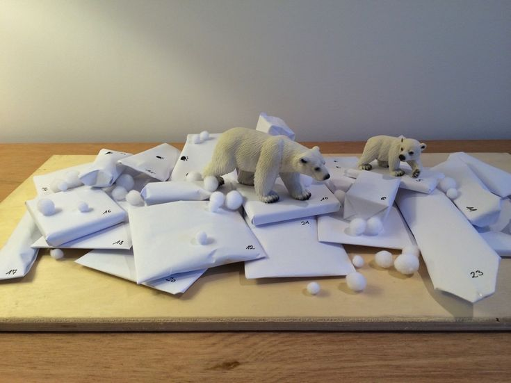 Adventskalender: Eisbären beim Spaziergang über 24 Eisschollen - blog.hellomime.eu