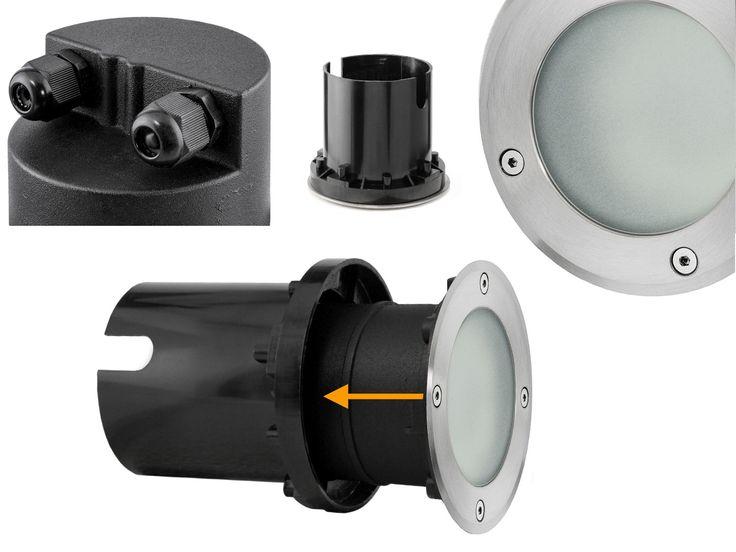 LED-Bodeneinbaustrahler VISKOS - rund in Edelstahl gebürstet, 3,5W neutralweiß, GX53 230V – Bild 7