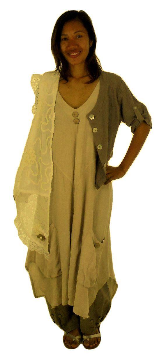 HE600BG44 jurk gelaagde look plus grootte door MeinDesignLagenlook