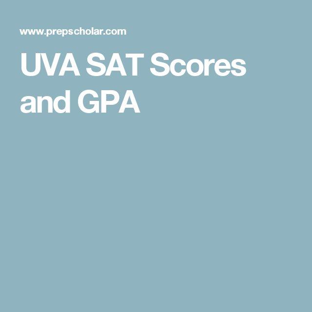 UVA SAT Scores and GPA