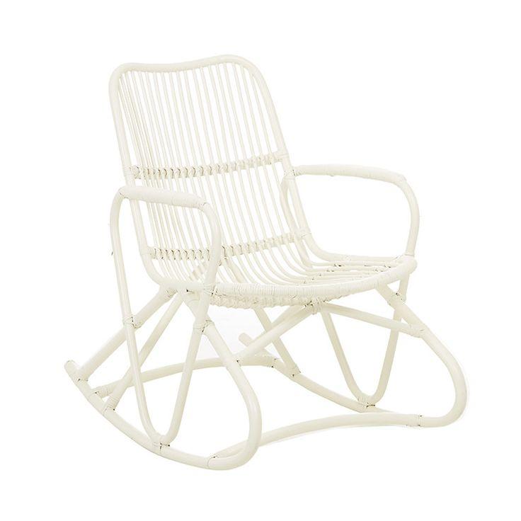 GlobeWest - Tango Loop Rocking Chair white rattan
