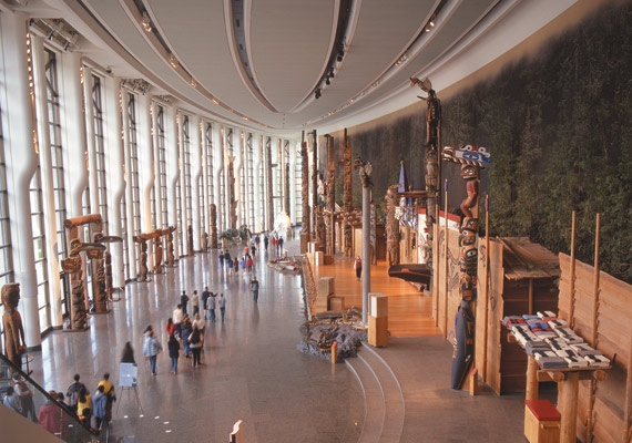 Canadian Museum of Civilization, in Gatineau, Quebec.  Designed and Architected by Douglas Cardinal. :)