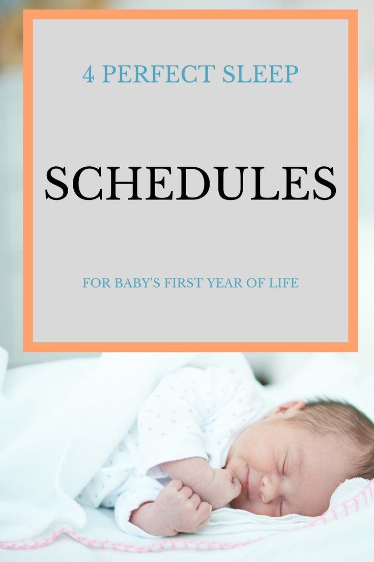Need more rest? With a baby , it can be hard. These are four foolproof sleep schedules that really helped me get more rest.