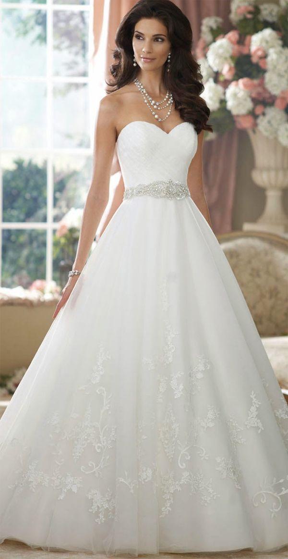 Sweetheart David Tutera Gorgeous Princess Wedding Dress