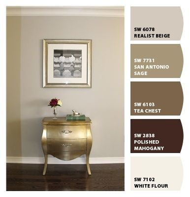 Master bedroom? (Paint colors from Chip It! by Sherwin-Williams) - actual wall color is Benjamin-Moore Revere Pewter
