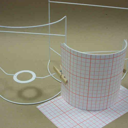 Kit applique demi cylindrique 30cm - Intérieur Lumière