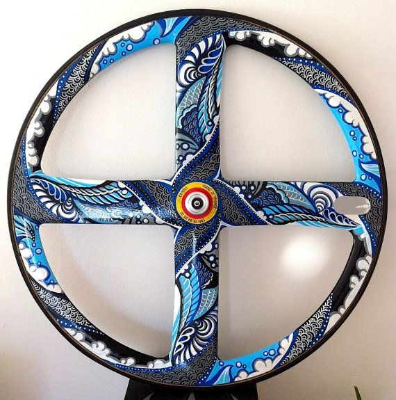 Customised Corima Carbon 4 Spoke Wheel by SUZKO on Etsy