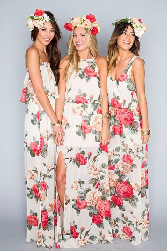 Unusual Tropical Bridesmaids Dresses Pictures Inspiration - Wedding ...