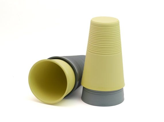 Minimalistic ripped porcelain mug, modern mug, XL mug, contemporary ceramics, modern yellow mug, yellow porcelain mug, minimal ceramic mug