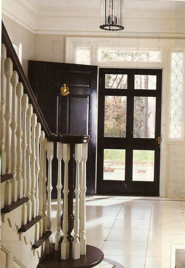 Hate storm doors, but love this idea.