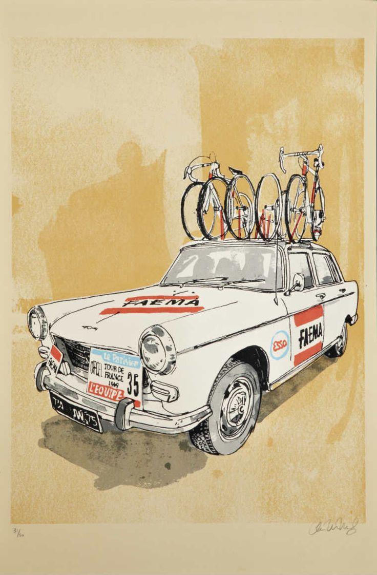 Tour de France 1969. L'ammiraglia Faema