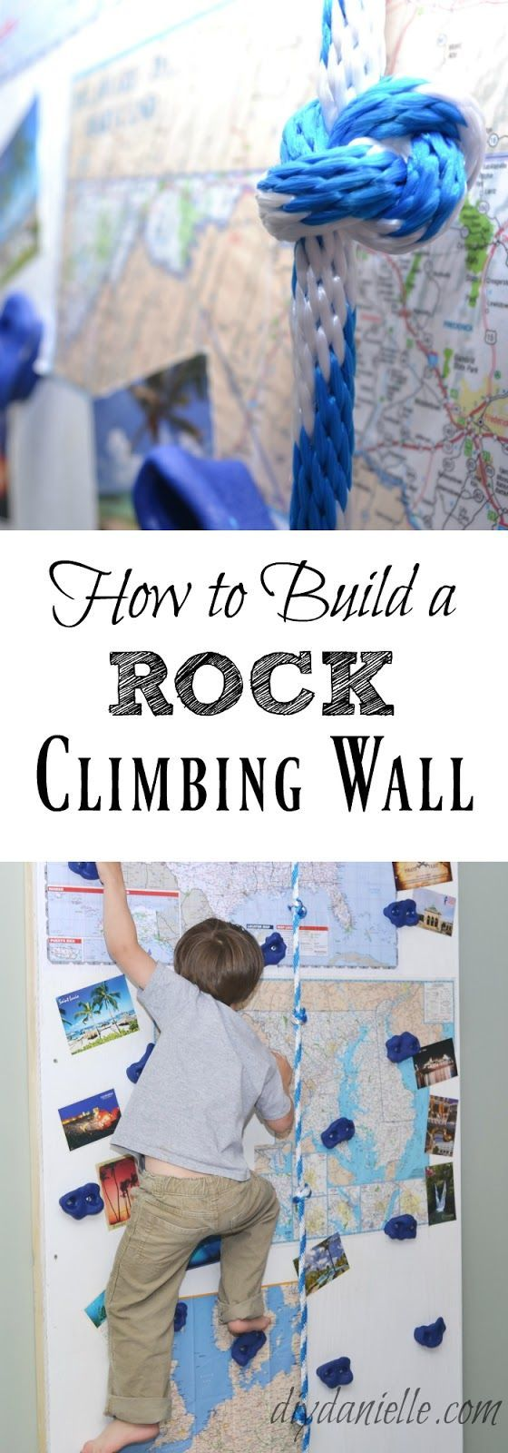 How to build an easy, indoor rock climbing wall for kids.
