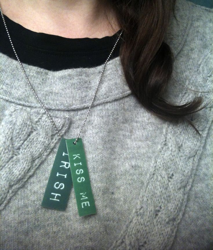 St. Patrick's Day Necklace | via @Kathy Chan Beymer from Merriment Design