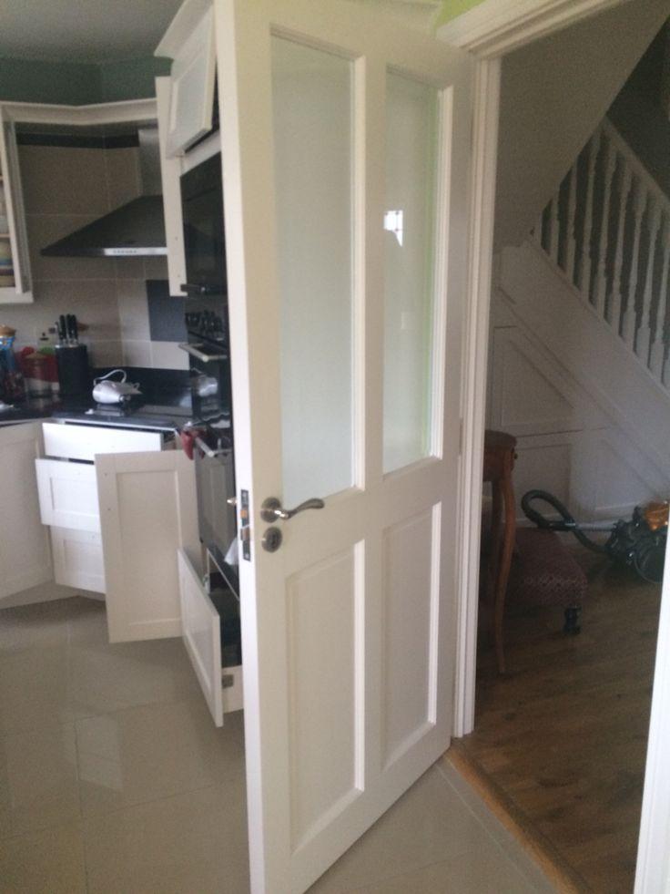 Kitchen door painted