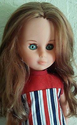 Vintage-Doll-ZANINI-ZAMBELLI-17-Blonde-red-hair-Sleep-Eyes-Doll-Italian