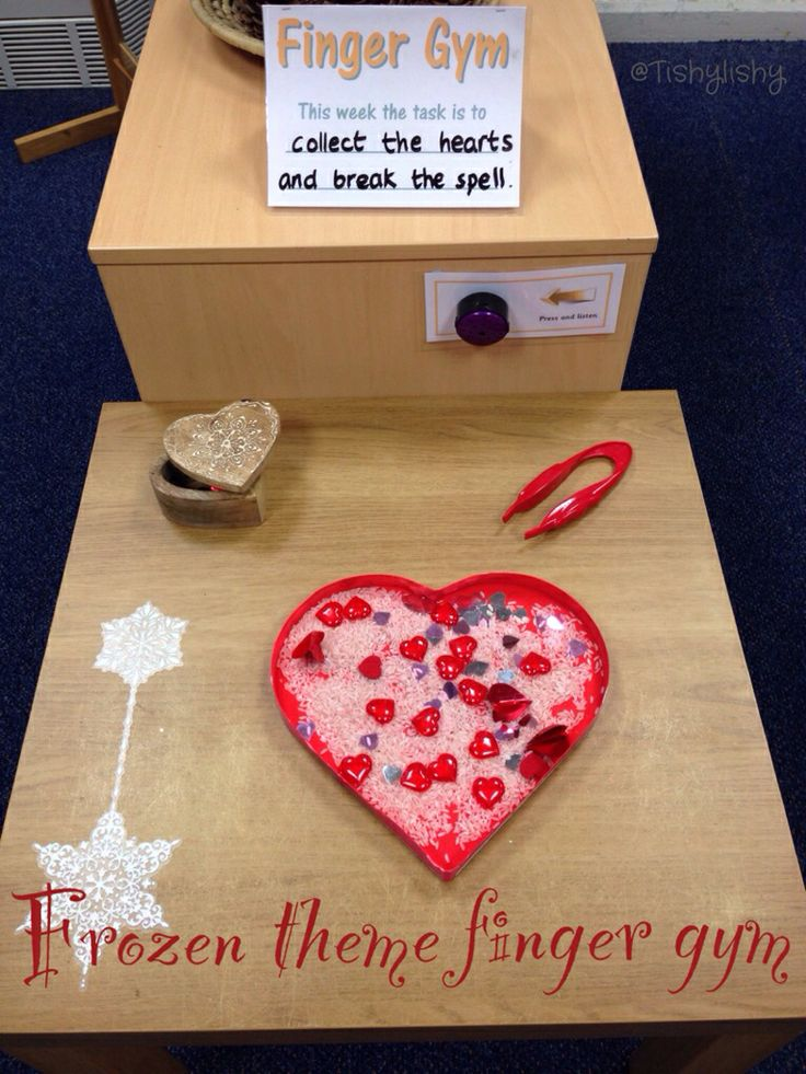 Frozen Theme Finger Gym Collect The Hearts Fine Motor