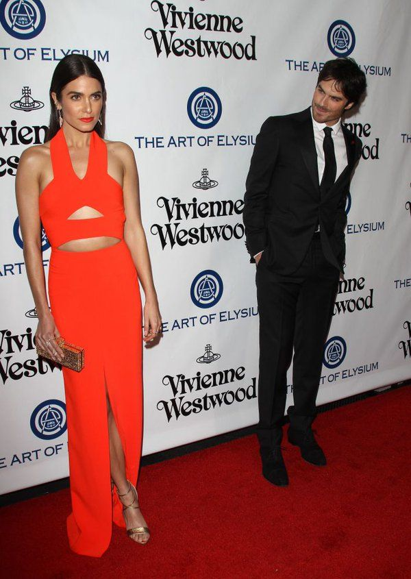 Ian Somerhalder admiring his wife Nikki Reed at #ArtofElysium Heaven Gala 01/09/16 in LA