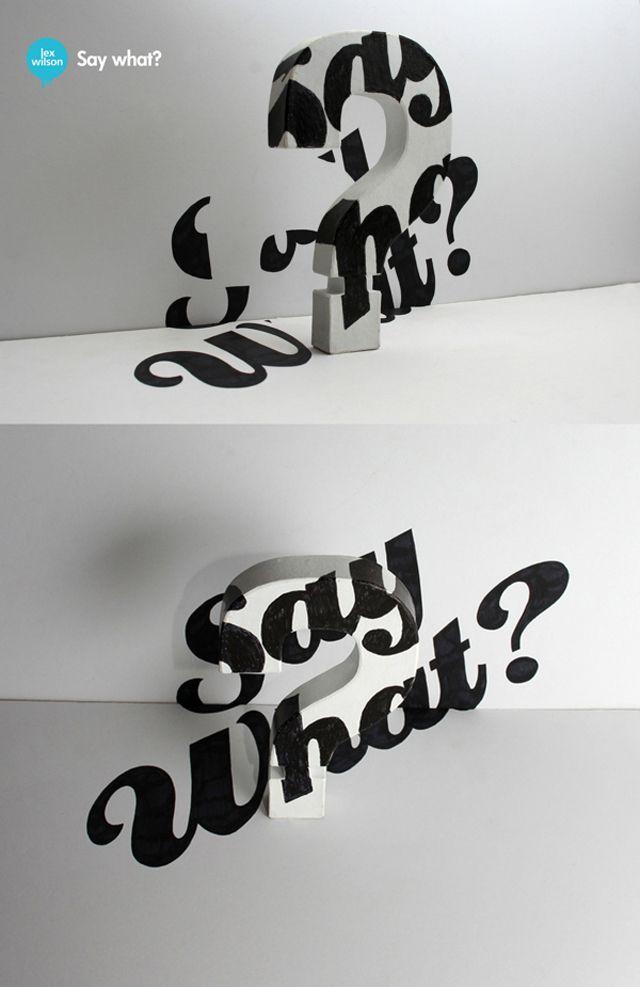 3D Typography by Lex Wilson 5 – Fubiz™